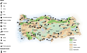 Turkey Agricultural map