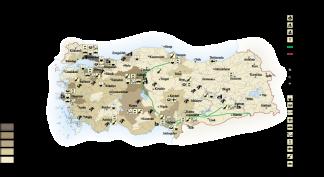 Turkey Economic map