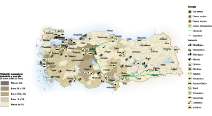Turkey Economic map