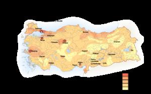 Turkey Population map