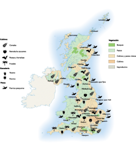 United Kingdom Agricultural map