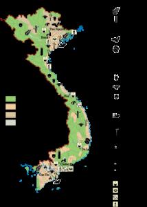 Vietnam Economic map
