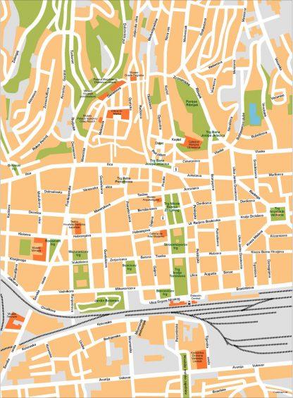 Zagreb Vector Map