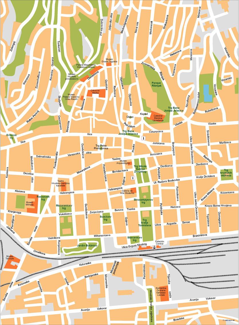 Zagreb Mapa Vectorial Netmaps Mapas De Espana Y Del Mundo