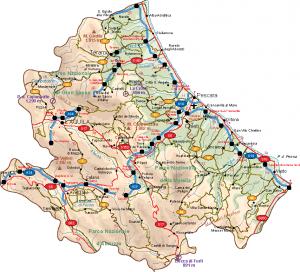 Abruzzo Vector Map