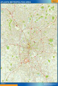Atlanta Vinyl Map
