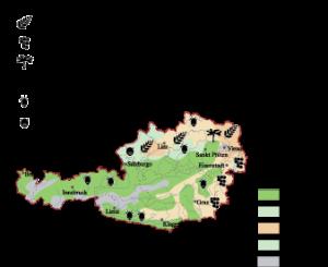 Austria Land Use map