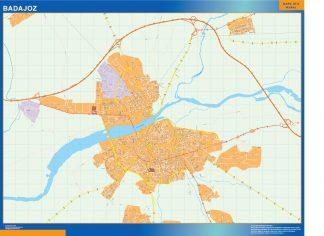 Badajoz Mapa Vinilo