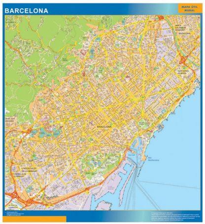 Barcelona Mapa Vinilo