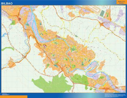 Bilbao Mapa Vinilo