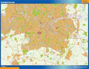 Birmingham Vinyl Map