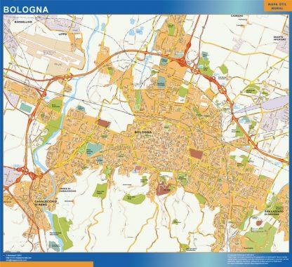 Bologna Wall Map