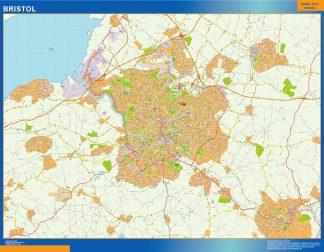 Bristol Vinyl Map