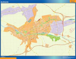 Burgos Mapa Vinilo