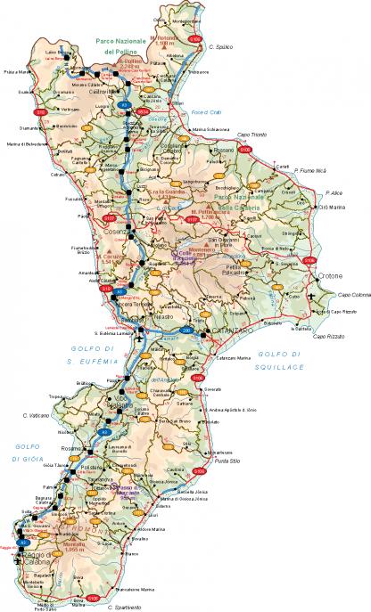 Calabria Vector Map