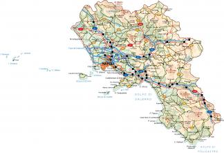 Campania Vector Map