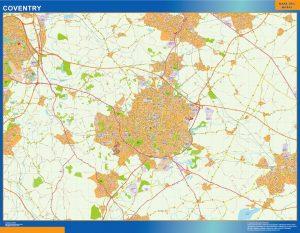 Coventry Vinyl Map