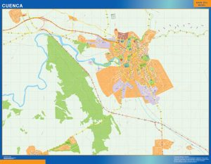 Cuenca Mapa Vinilo