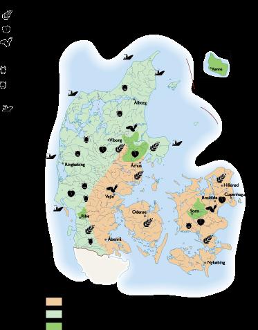 Denmark Land Use map