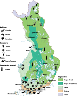 Finland Land Use map