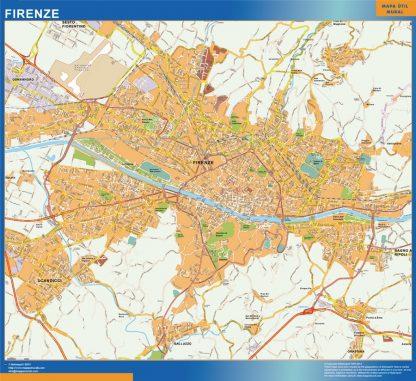 Firenze Wall Map