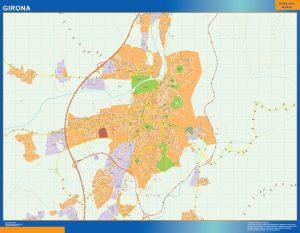 Girona Mapa Vinilo