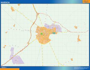 Huesca Mapa Vinilo