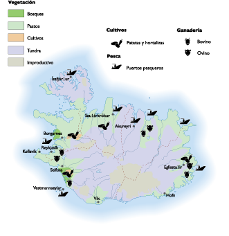 Iceland Land Use map