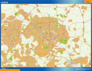 Leeds Vinyl Map