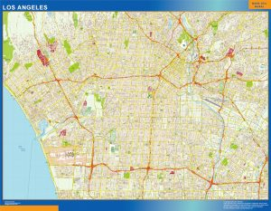 Los Angeles Vinyl Map