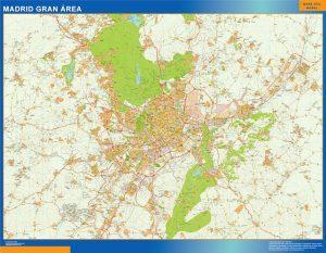 Madrid Gran Area Mapa Vinilo
