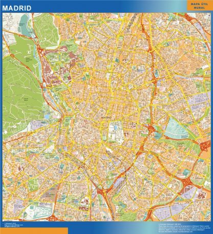 Madrid Mapa Vinilo