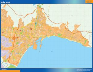 Malaga Mapa Vinilo