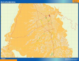 Mapa Bucaramanga