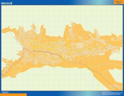 Mapa Ibague