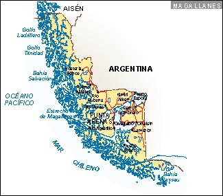 Mapa Magallanes