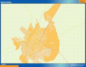 Mapa Monteria