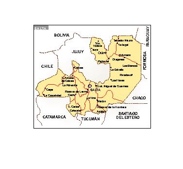 Mapa Salta