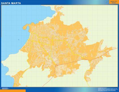 Mapa Santa Marta