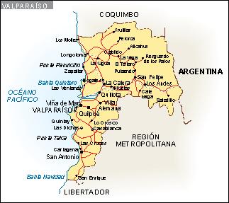 Mapa Valparaiso