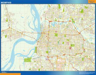 Memphis Vinyl Map