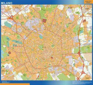 Milano Wall Map