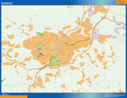 Oviedo Mapa Vinilo