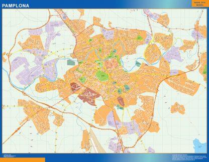 Pamplona Mapa Vinilo