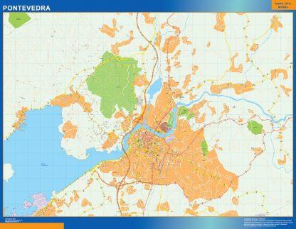 Pontevedra Mapa Vinilo