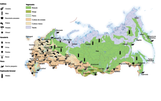 Russia Land Use map