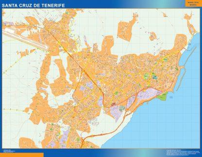 Santa Cruz Tenerife Mapa Vinilo