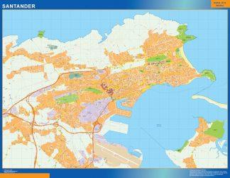 Santander Mapa Vinilo