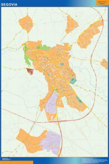 Segovia Mapa Vinilo