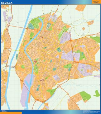 Sevilla Mapa Vinilo